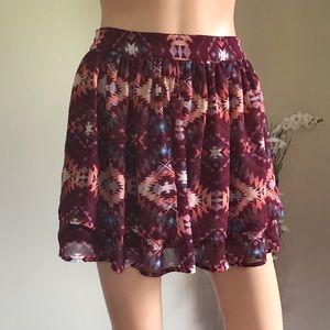Arizona Jean Company Skirts - Arizona Jean Co. Plum Double Layer Lining Skirt